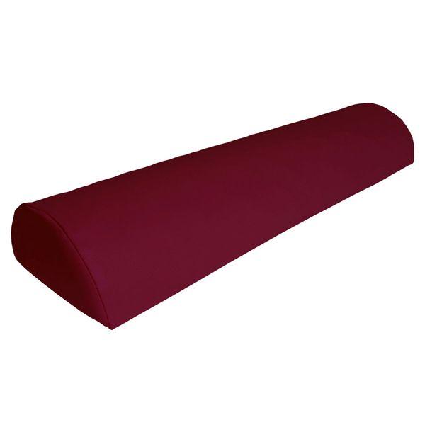 Halbrolle Knierolle Nackenrolle Massage Therapie Rolle dunkelrot rot – Bild 1