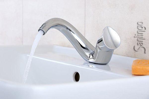 Designer Waschbecken Waschtisch Armatur Sanlingo ISEO Horn – Bild 2