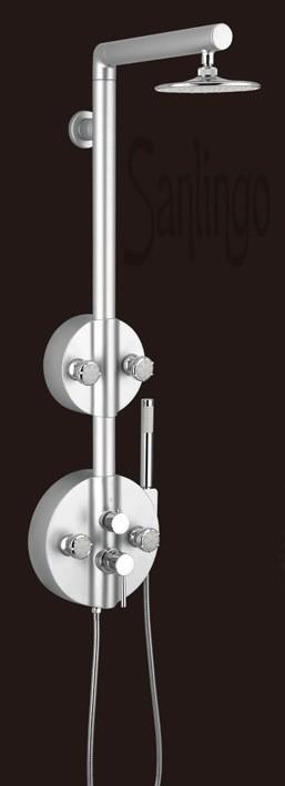 Aluminium Duschpaneel Duschsäule Duschset von Sanlingo – Bild 1