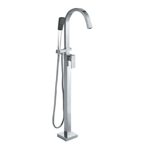 Sanlingo Manchester Freestanding Bath Shower Mixer Taps Chrome – Bild 1