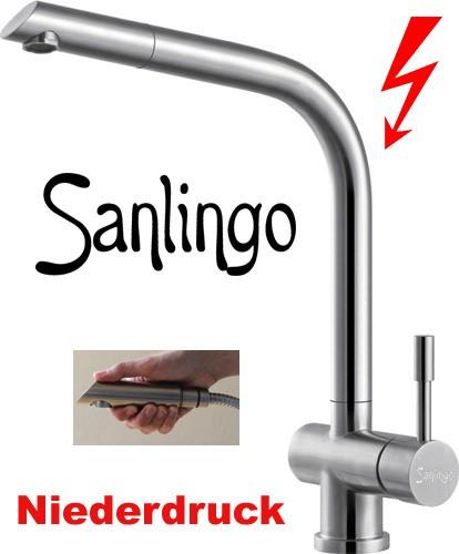 NIEDERDRUCK Sanlingo Küchenarmatur Spültischarmatur mit ...