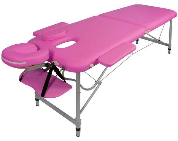 Massageliege / Massagebank ALU, nur 10kg, mit viel Zubehör, Topqualität, Pink – Bild 1