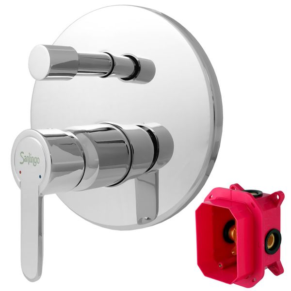 Concealed Shower Tap Diverter 2 way Round from Sanlingo Mounting Box – Bild 1