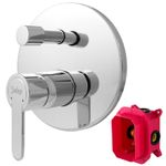 Concealed Shower Tap Diverter 2 way Round from Sanlingo Mounting Box 001