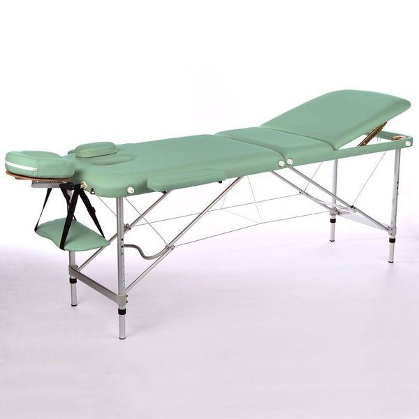 Massageliege / Massagebank ALU, nur 11kg, 3-teilig, mit viel Zubehör, Topqualität, GRÜN – Bild 3
