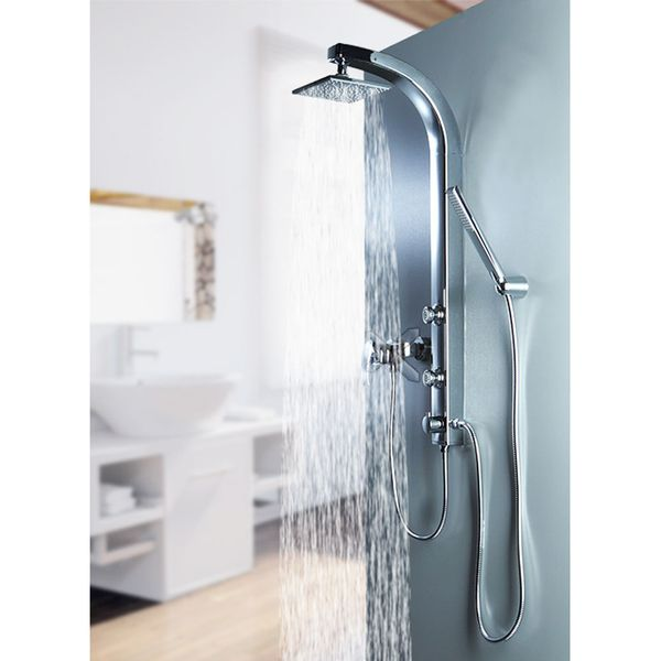 CHROME SHOWER COLUMN SHOWER PANEL WITH MASSAGE JETS FROM SANLINGO – Bild 1