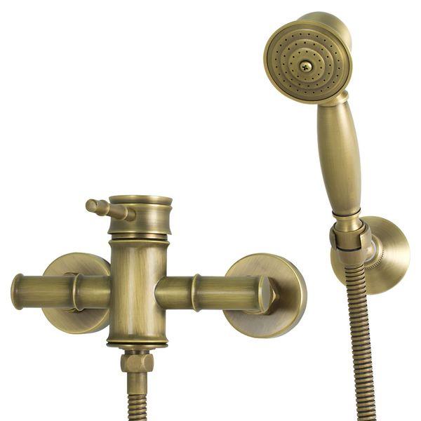 Iris Nostalgie Retro Dusche Armatur Einhebel Antik Messing Design Sanlingo