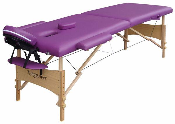 Massageliege / Massagebank in Lila mit viel Zubehör Topqualität