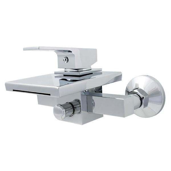 LEVER BATH FILLER TAPS CHROME WITH CHROME WATERFALL NEW – Bild 1