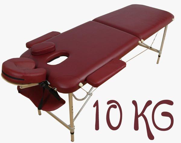 Massageliege / Massagebank ALU, nur 10kg, mit viel Zubehör, Topqualität, rot