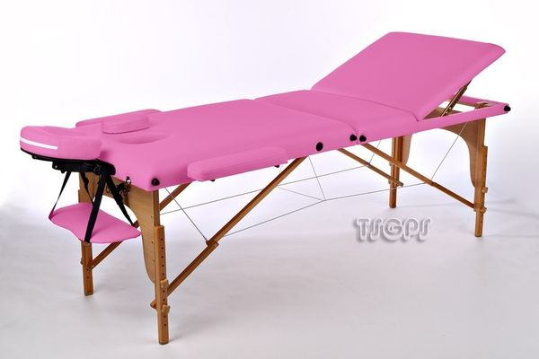 Reiki Massageliege, Kingpower, 3 Zonen, inkl. Tasche und Zub., PINK – Bild 3