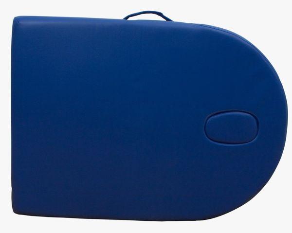 Reiki Massageliege / Massagebank, Oval - Rund, mit viel Zubehör, blau – Bild 5