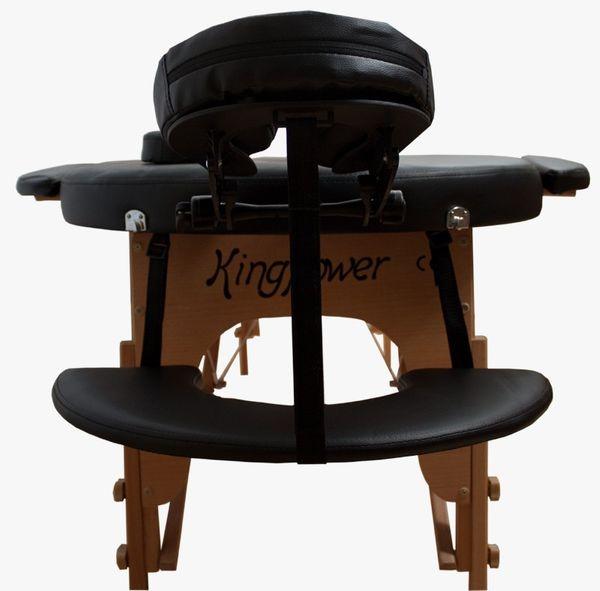 Reiki Massageliege / Massagebank, Oval - Rund, mit viel Zubehör, schwarz – Bild 5