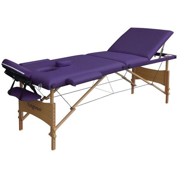 Reiki Massageliege / Massagebank mit viel Zubehör Topqualität, 3-teilig, LILA – Bild 2