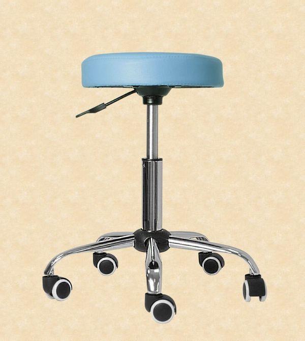 Kosmetik Arbeitshocker Massage Hocker höhenverstellbar hellblau – Bild 1