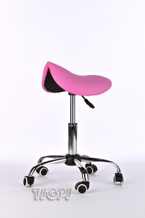 Kosmetik Arbeitshocker Massage Hocker Sattelform, höhenverstellbar, PINK – Bild 1