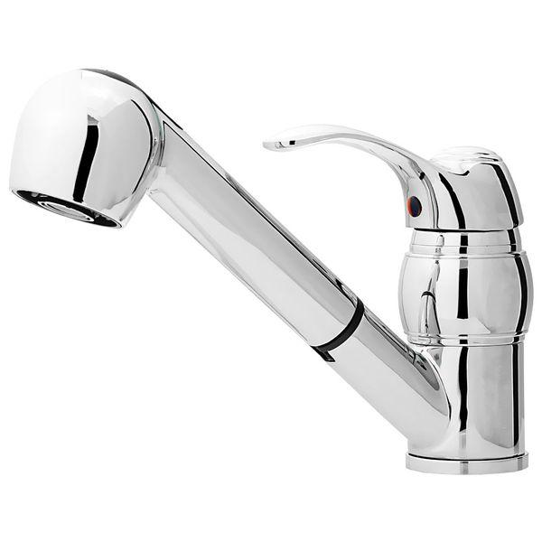 Retro Kitchen Sink Tap Mixer Rotatable 2 Water Jets Pullout Chrome Sanlingo – Bild 1