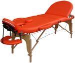 Reiki Massageliege / Massagebank, Oval - Rund, mit viel Zubehör, orange 001