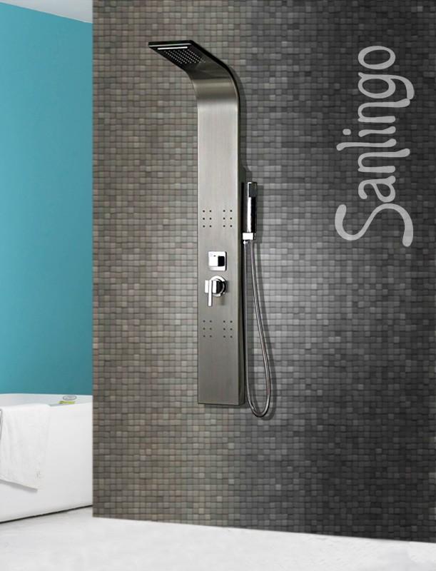 Acier inoxydable bross colonne de douche de pluie cascade sanlingo colonne de douche connexion - Colonne de douche cascade ...