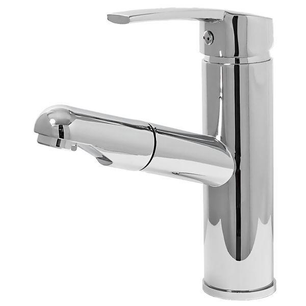 Design Bad Waschbecken Einhebel Armatur Wasserhahn Ausziehbar Chrom Sanlingo – Bild 2
