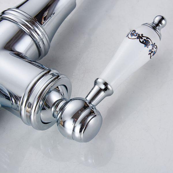 Extraordinary Kitchen Sink Single Lever Tap Ceramic Handle Grip Chrome Sanlingo – Bild 4