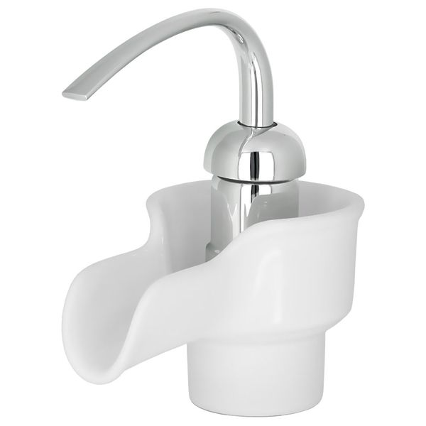 Retro Single Lever Bathroom Washbasin Tap Mixer White Ceramic Chrome – Bild 1