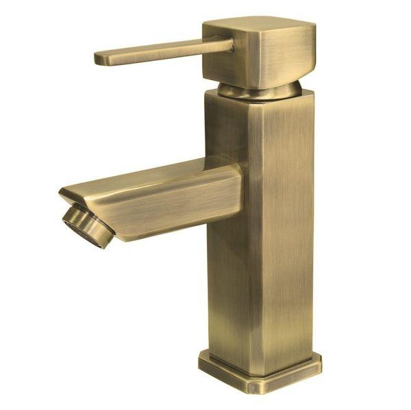 Bath Bathroom Wash Basin Bowl Single Lever Water Tap Mixer Bronze – Bild 1