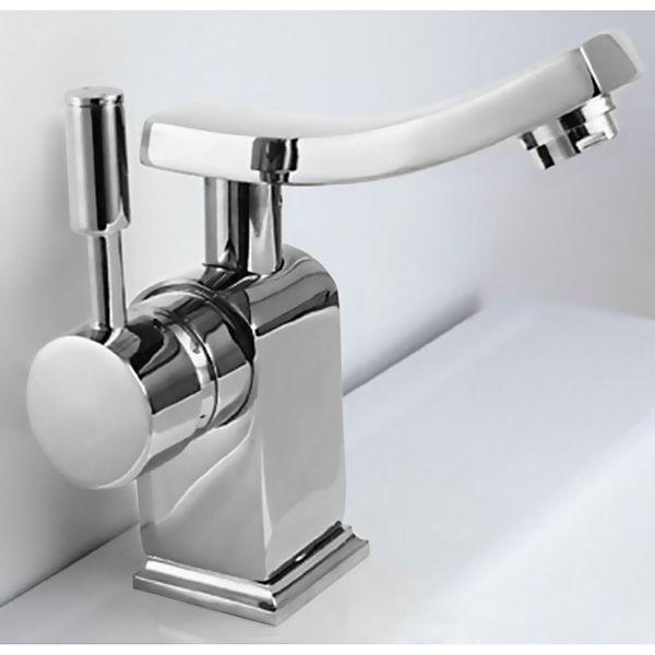 Modern Design Einhebel Badezimmer Bad Armatur Waschbecken Chrom Schwenkbar – Bild 1