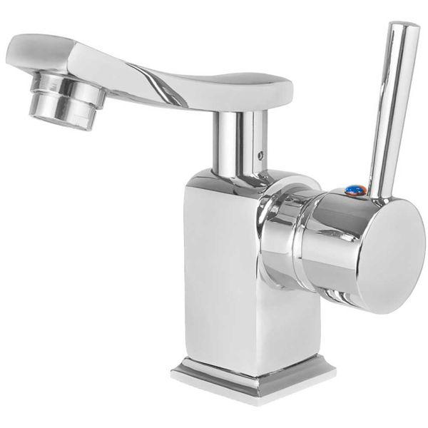 Modern Design Einhebel Badezimmer Bad Armatur Waschbecken Chrom Schwenkbar – Bild 2