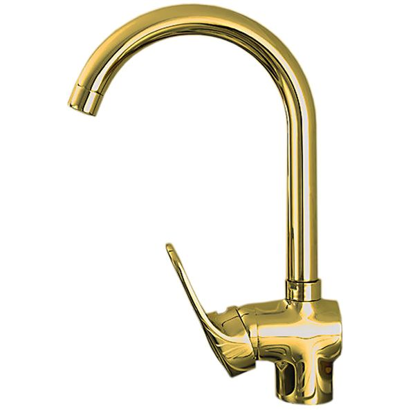 Elegant Design Single Lever Kitchen Sink Water Tap Rotatable Gold SILA Series – Bild 2