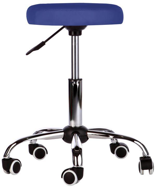 Kosmetik Arbeitshocker Massage Hocker , höhenverstellbar, blau – Bild 1