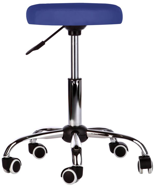 Kosmetik Arbeitshocker Massage Hocker , höhenverstellbar, blau