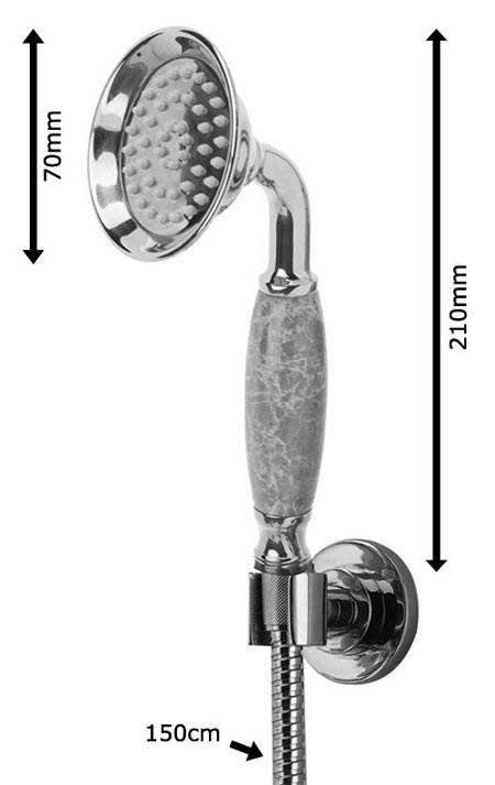 nostalgie retro unterputz dusche set duschset armatur kopfbrause handbrause gold marmor sanlingo bild 4 - Unterputz Armatur Dusche Set