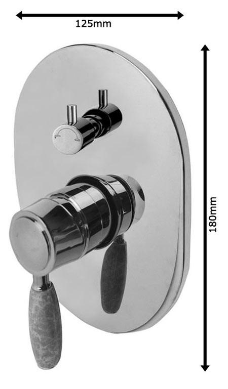 Nostalgie Retro Unterputz Dusche Set Duschset Armatur Kopfbrause Handbrause Gold Marmor Sanlingo  – Bild 3