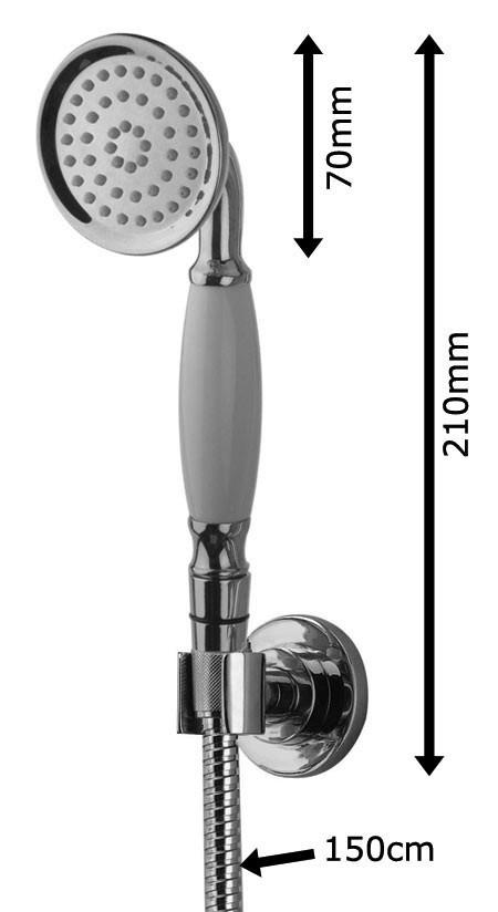 nostalgie retro unterputz dusche set duschset armatur kopfbrause handbrause gold sanlingo bild 2 - Unterputz Armatur Dusche Set