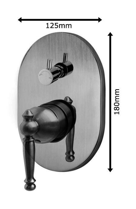 nostalgie retro unterputz dusche set duschset armatur kopfbrause handbrause antik messing sanlingo bild 4 - Unterputz Armatur Dusche Set