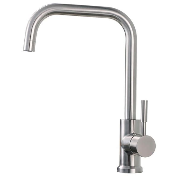 Rotatable Kitchen Sink Single Lever Water Tap Stainless Steel Massive Sanlingo – Bild 1