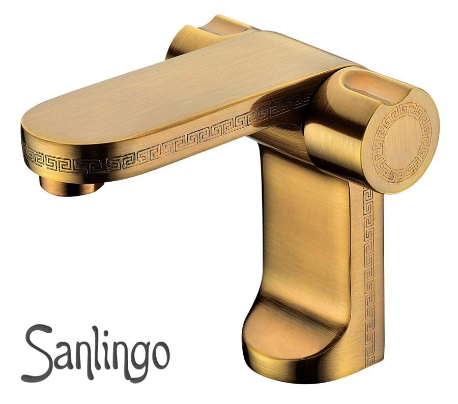 Antik Badezimmer Bad Waschbecken Armatur Wasserhahn Griechisches