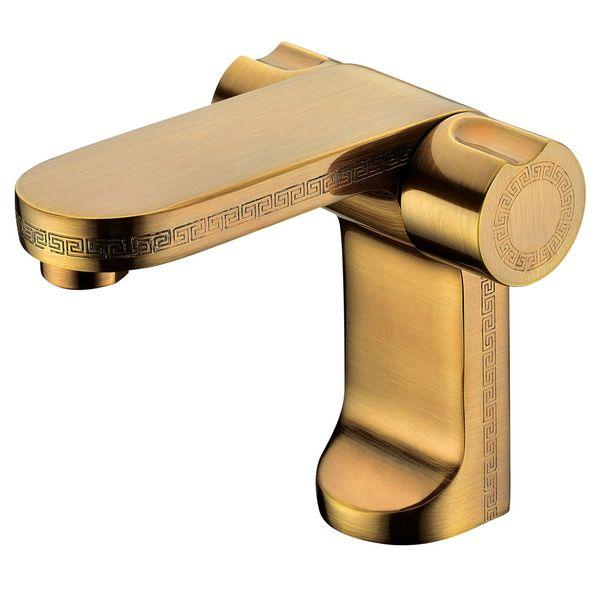 Antik Badezimmer Bad Waschbecken Armatur Wasserhahn Griechisches Design Muster Messing von Sanlingo