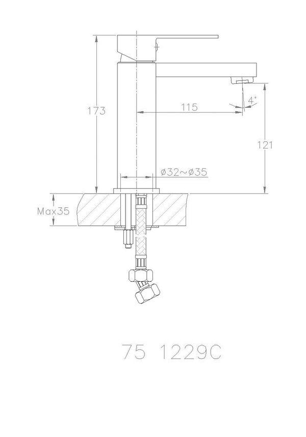 Modern Design Bath Wash Basin Single Lever Tap in Gold Sanlingo – Bild 2