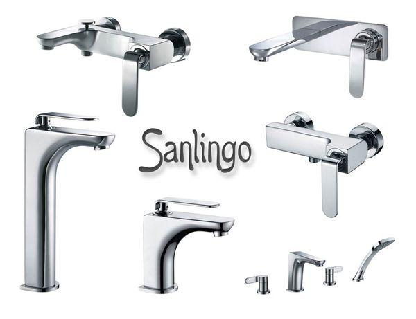Concealed Flush-Mounting Bath Wash Basin Water Tap Wall Mounting Chrome Sanlingo KATA Series – Bild 3