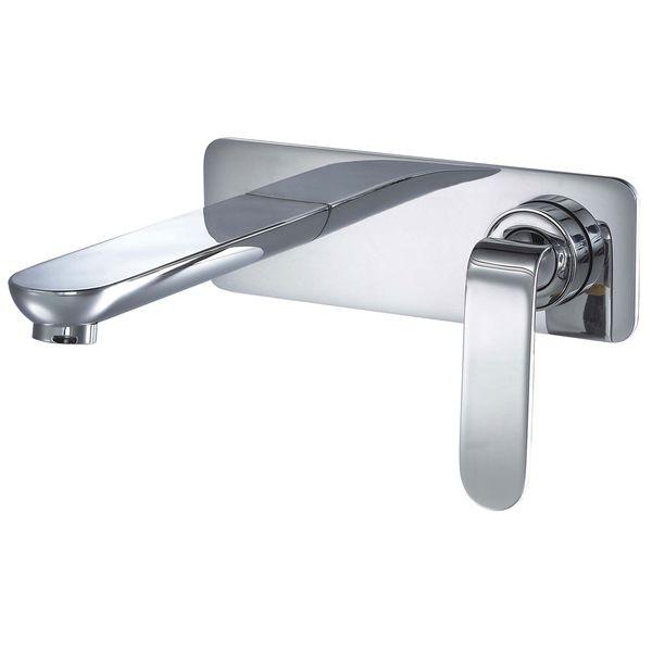 Concealed Flush-Mounting Bath Wash Basin Water Tap Wall Mounting Chrome Sanlingo KATA Series – Bild 1