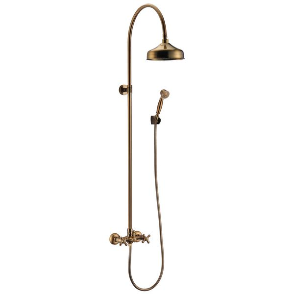 Complete Retro Shower Set Water Tap Rain Bath Brass Sanlingo MASA Series – Bild 1