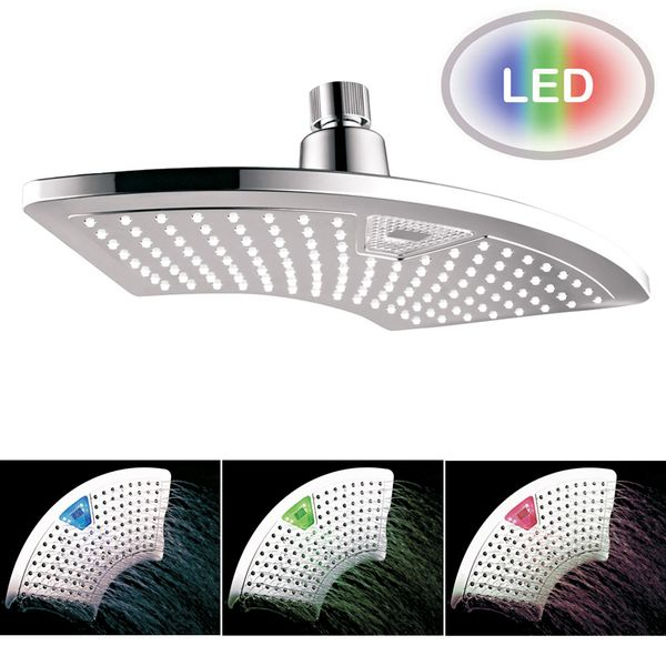 LED Over Head Rain Shower Head 30x15cm Digital Display Chrome Sanlingo