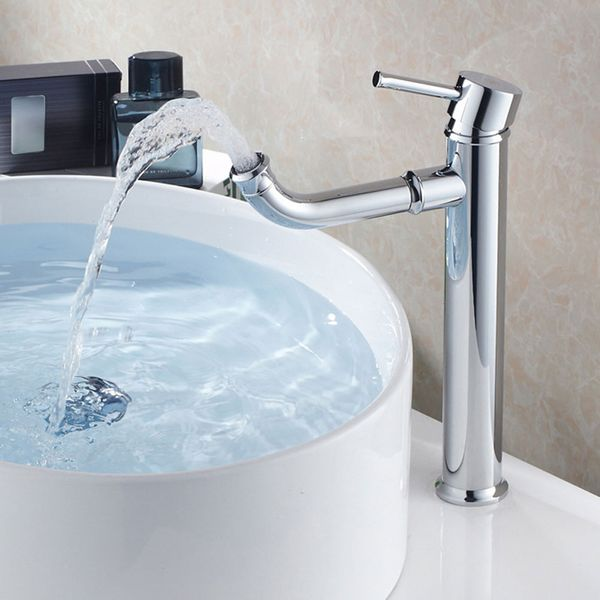 Sanlingo Bath Wash Basin Bowl Single Lever High Water Tap Chrome – Bild 2