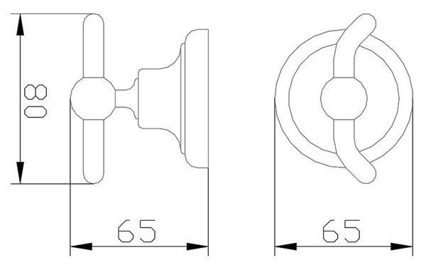 Design Handtuch Halter massiv Messing Haken Gold Sanlingo Serie MARA – Bild 2