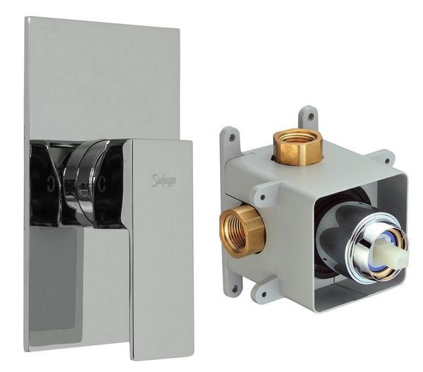 Concealed Shower Valve 1 way incl. Box from Sanlingo Chrome – Bild 1