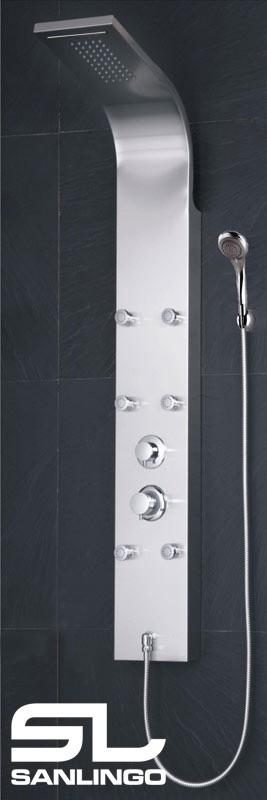 Edelstahl Duschpaneel Duschsäule Regendusche Wasserfall Handbrause Massage Sanlingo