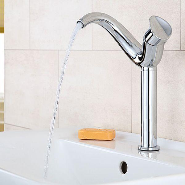 Modern Design Bath Wash Basin Bowl Water Tap Single Lever Chrome Sanlingo ISEO – Bild 1