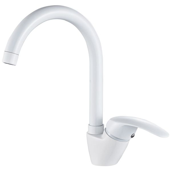 Sanlingo Modern Design White Sink Kitchen Water Tap Rotatable  – Bild 1